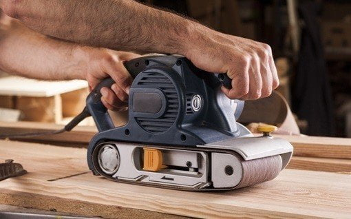 belt sander tip for woodworking
