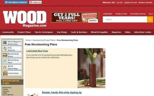 Free Woodworking Plans – Top 17 Blogs You Must Read ...