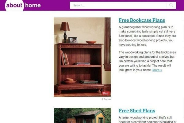 About.com Free woodworking plan