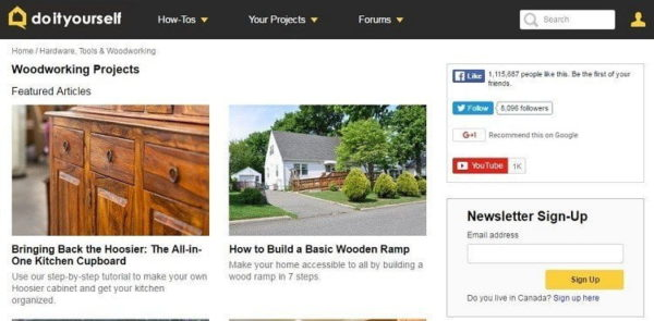 Free woodworking plans top 17 blogs you must read as their name suggests this website puts emphasis on diy projects solutioingenieria Choice Image