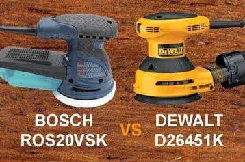 Bosch ROS20VSK vs Dewalt D26451K
