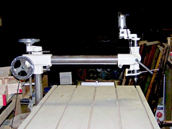 radial drill press with large swing