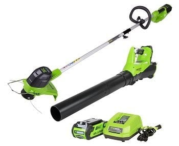 GreenWorks STBA40B210 G-MAX 40V Cordless String Trimmer and Blower Combo