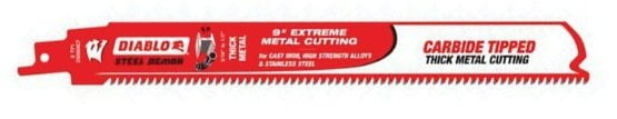 Freud DS0908CF Carbide-Tipped Reciprocating Saw Blades