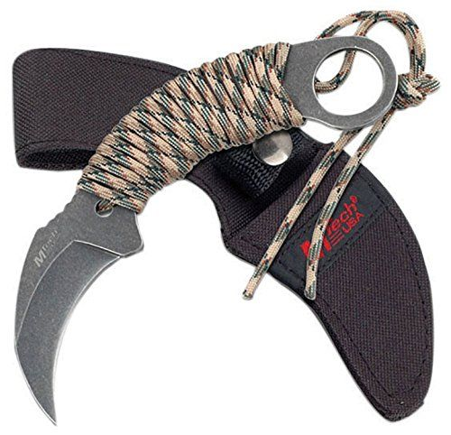 Mtech MT670 Hawk Cord Wrap Karambit Knife