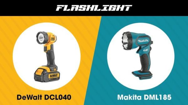 5. Makita vs. DeWalt - Flashlight