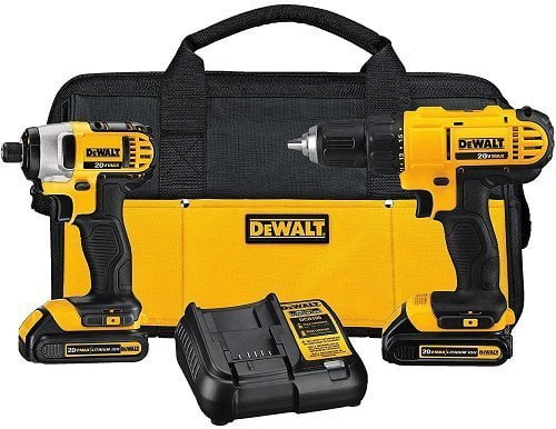 Dewalt DCK240C2 Lithium Battery Drill Driver/Impact Driver Combo Kit