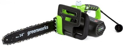 GreenWorks 20222 9 Amp 14-Inch Corded Chainsaw