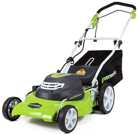 GreenWorks 25022 12-Amp 20-Inch Corded Electric Lawn Mower