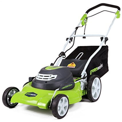 GreenWorks 25022 20-Inch 12-Amp Corded Lawn Mower