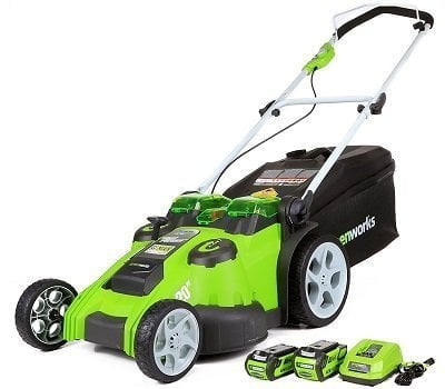 GreenWorks 25302 20-Inch Twin-Force Cordless Lawn Mower