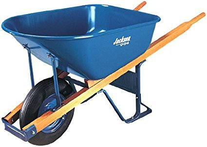Jackson M6T22 Steel Tray Contractor Wheelbarrow With Front Braces