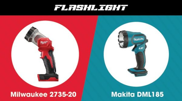Milwaukee vs. Makita - Flashlight