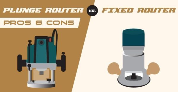 Plunge Router vs Fixed Base Router - Feature Image