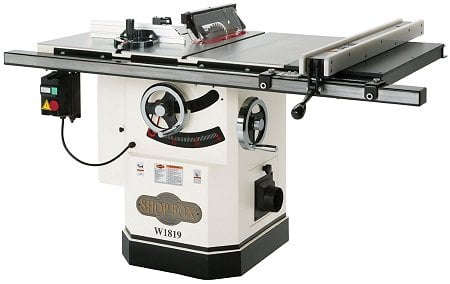 Shop Fox W1819 3 HP 10-Inch Cabinet Table Saw with Riving Knife
