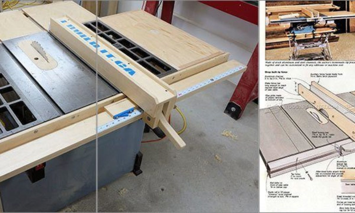 8 Simple DIY Table Saw Fence Plans You Can Build In Less 8 Hour