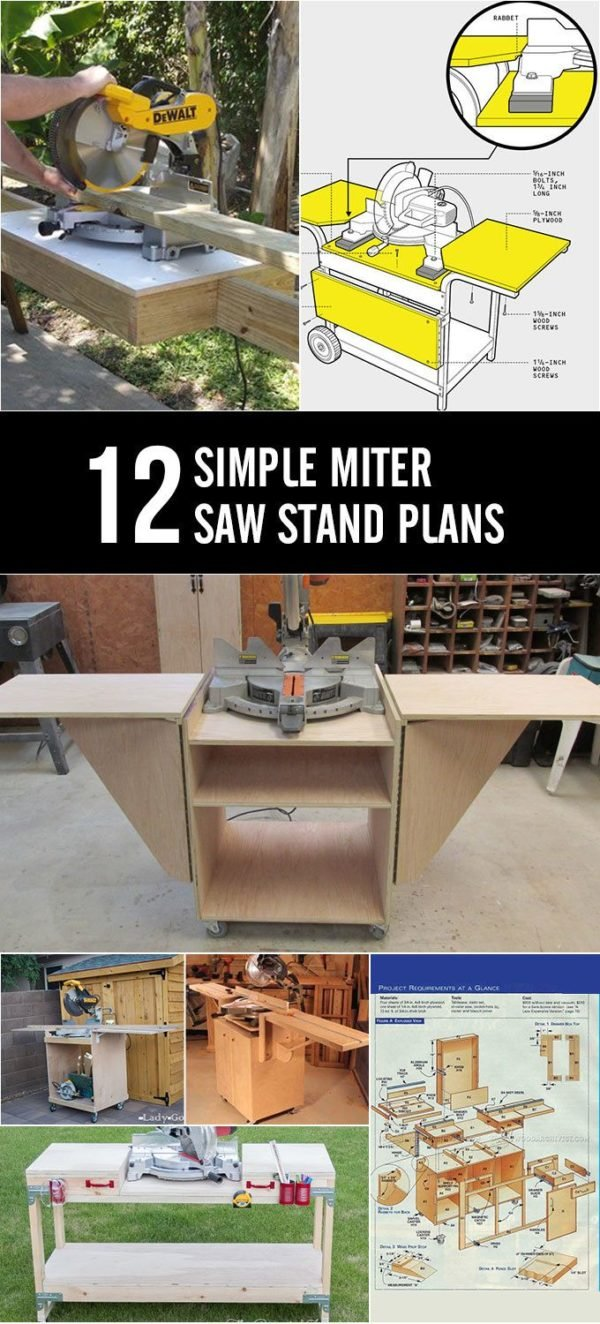 12 Simple DIY Miter Saw Stand Plans