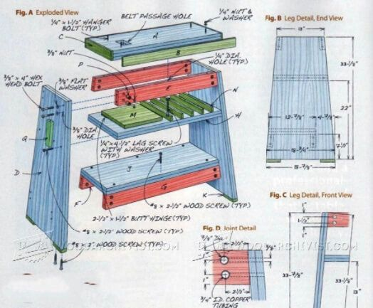 Professional Quality Lathe Stand Plans