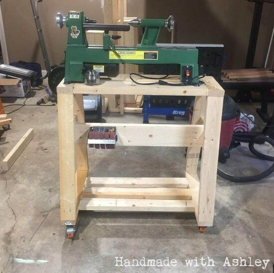 Ashley's DIY Handmade Mobile Lathe Stand
