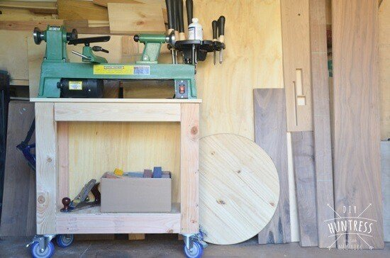 Simple & Free DIY Mobile Lathe Stand Plans