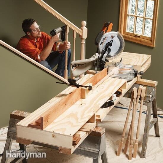 Large & Sturdy Miter Saw Table Tutorial