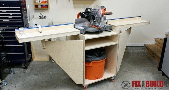 Mobile Miter Saw Station DIY Guide