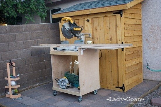 Beginner Friendly Mobile Miter Saw Stand Plans