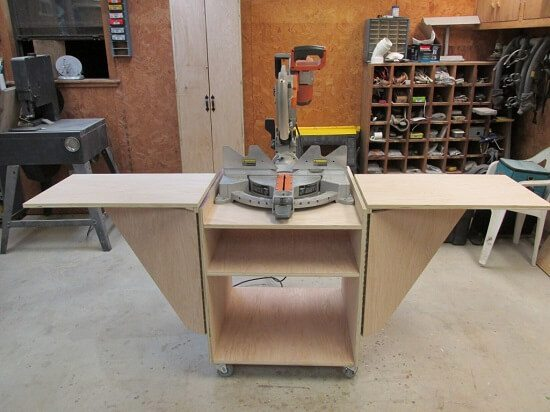Aprilu0027s Portable Miter Saw Stand With Scrap Box Tutorial