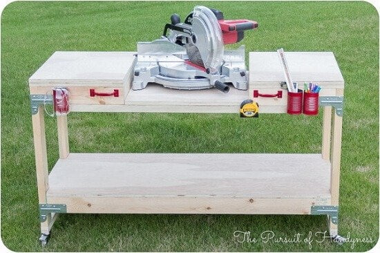Ayisha's DIY Mobile Miter Saw Stand Tutorial