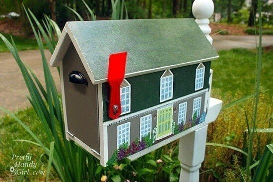 DIY House Shaped Mailbox Tutorial
