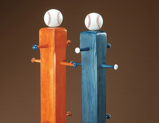 DIY Baseball Cap Rack Plans