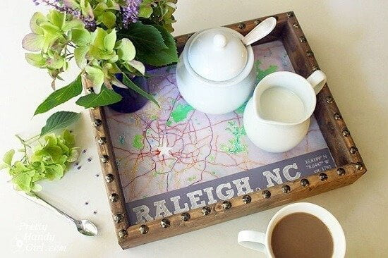 Brittany's DIY State Capital Rustic Tray