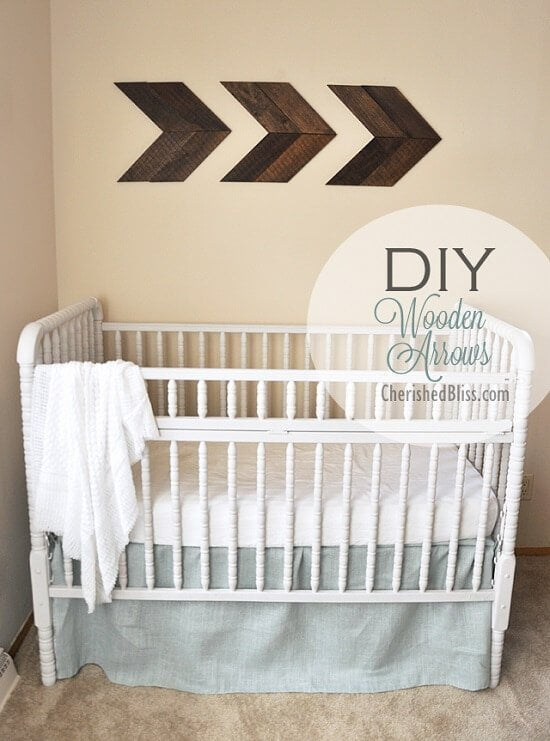 Easy DIY Wooden Arrows for Travel-Themed Nursery