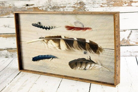 Brittany's DIY Feather Art