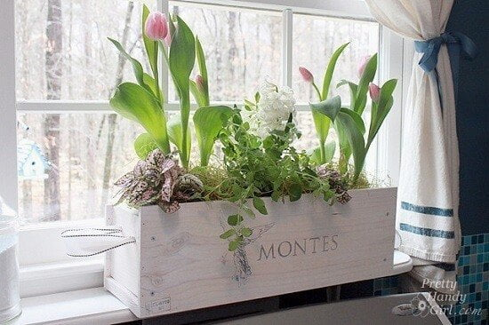 DIY Wine Crate Window Box Tutorial