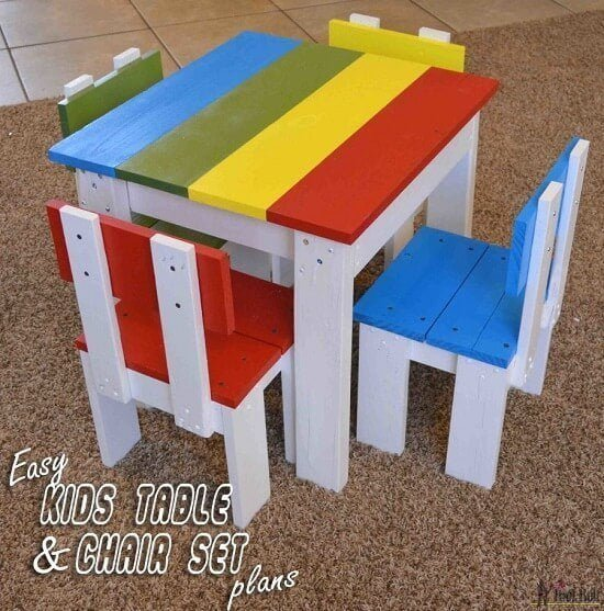 Kids Table & Chair Set from Scrap Wood Guide