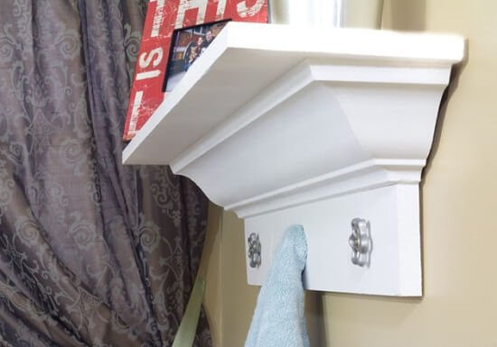 DIY White Shelf with Crown Molding Tutorial