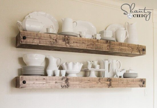 Free DIY Floating Shelves Plans