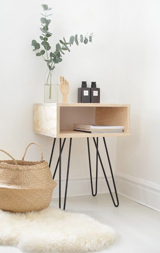 Hairpin Nightstand DIY Guide