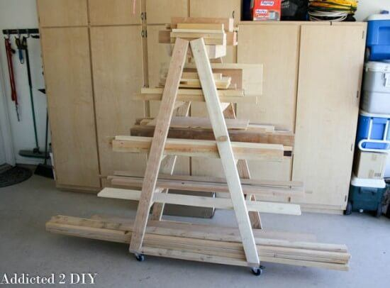 Mobile Lumber Rack DIY Tutorial