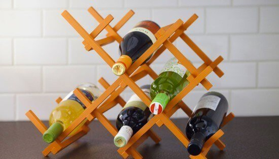 DIY 7-Bottle Countertop Wine Rack