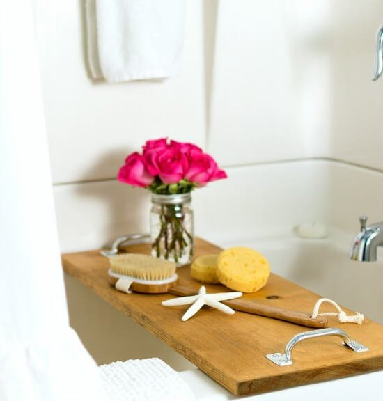 DIY Bath Caddy Tutorial