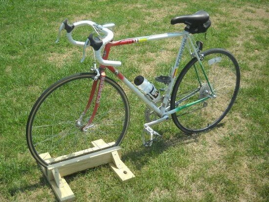 DIY Wooden Bike Stand Tutorial