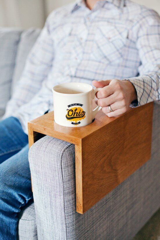 DIY Wooden Sofa Sleeve with Cup Holder Tutorial
