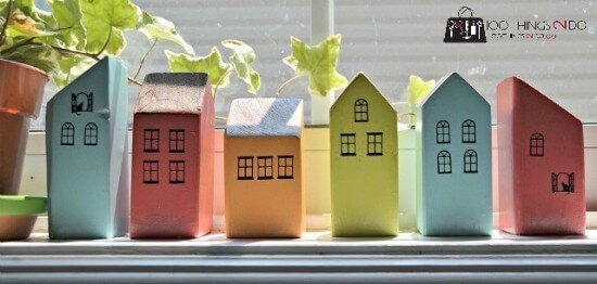 Mini houses from Scrap Wood DIY Tutorial