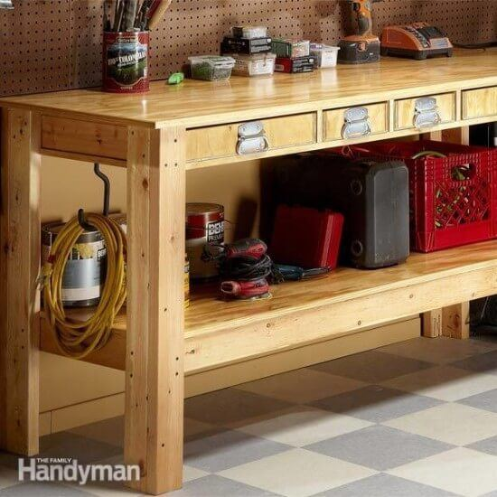 Super Tough Workbench Free DIY Plans