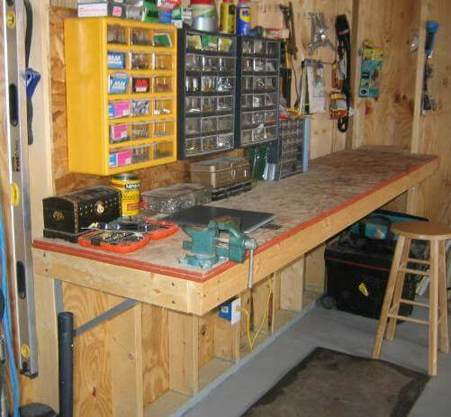 Sturdy Garage Workbench without Legs