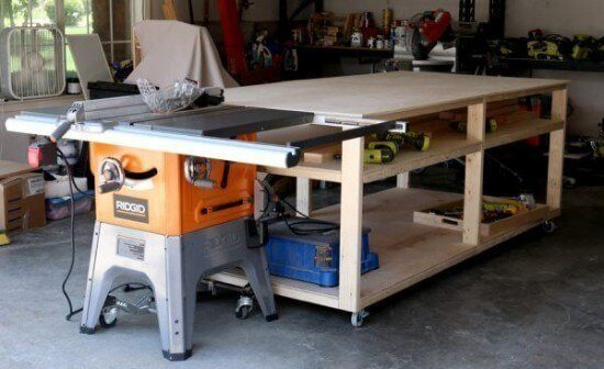 $100 DIY Mobile Workbench Tutorial