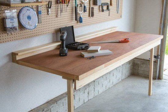 Lightweight DIY Drop Down Workbench Tutorial