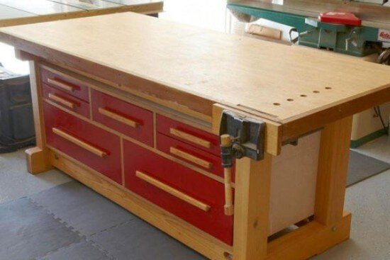 Solid & Elegant Workbench Plans
